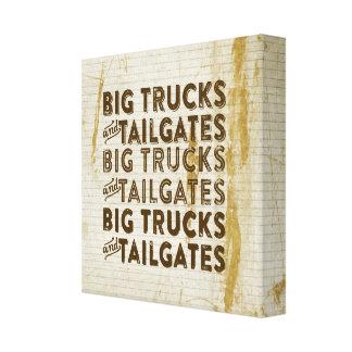 Big Trucks and Tailgates Canvas Print
