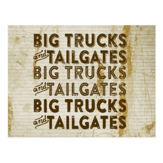 Big Trucks and Tailgates Postcard