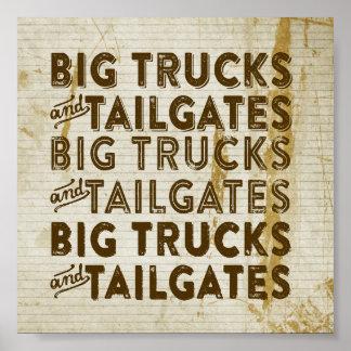 Big Trucks and Tailgates Print