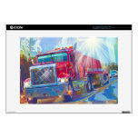 "Big Trucks Highway Driving Art Skins for Truckers 15"" Laptop Decals"