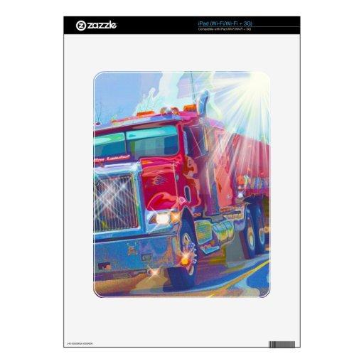 Big Trucks Highway Driving Art Skins for Truckers iPad Skin