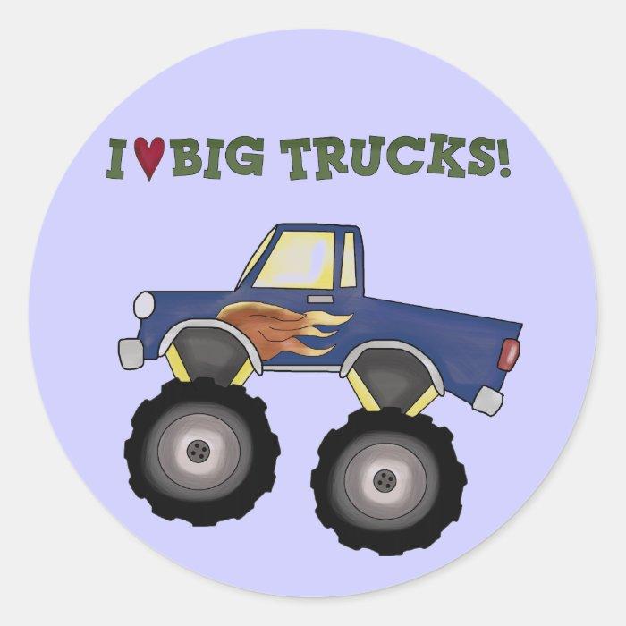 Big Trucks Theme Fun Stickers