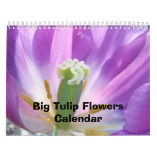 Big Tulip Flowers Calendar Nature Floral Colorful