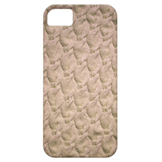 Big twisted knitted cables (cream) iPhone SE/5/5s case