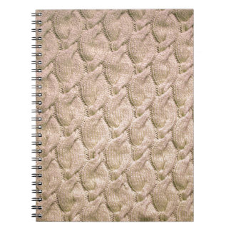 Big twisted knitted cables (cream) spiral notebook