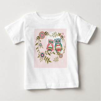 Big Two blue, coral owls2314 Baby T-Shirt