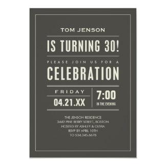 Mens 30th Birthday Party Invitations Announcements Zazzle