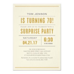 Surprise 70th birthday invitations announcements zazzle big type 70th birthday surprise party invitations stopboris Images