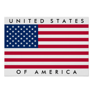 Big United States of America Flag USA US Poster