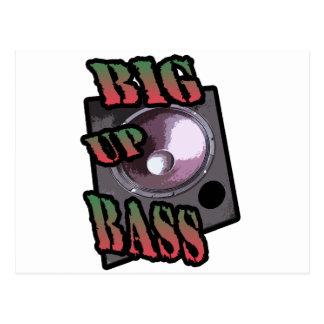 big up bass postcard