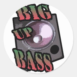 big up bass stickers