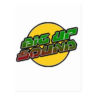 Big up Sound Dub Dubstep Reggae Postcard