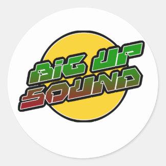 Big up Sound Dub Dubstep Reggae Round Stickers