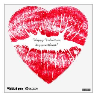 BIG VALENTINES DAY KISS wall decal