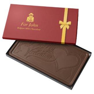 Big Valentine's Day Milk Chocolate Bar Box For Him