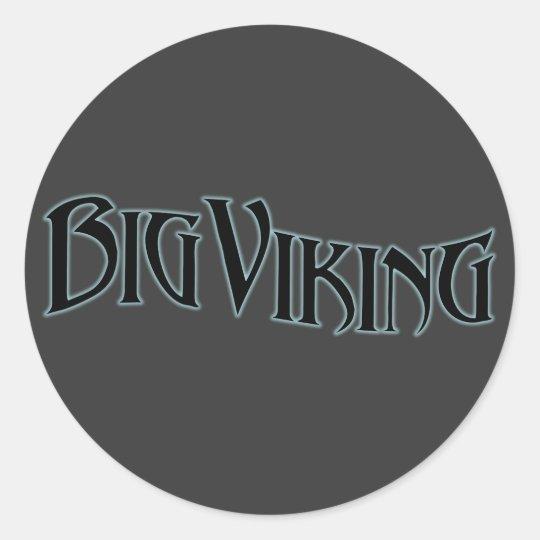 Big Viking Classic Round Sticker