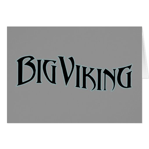 Big Viking Greeting Card