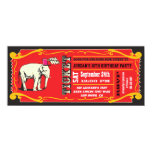 BIG Vintage Circus Ticket Birthday Party Custom Invite