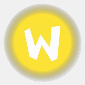 Big W Classic Round Sticker
