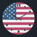 """Big wall clock with american flag<br><div class=""""desc"""">Big wall clock with american flag USA</div>"""