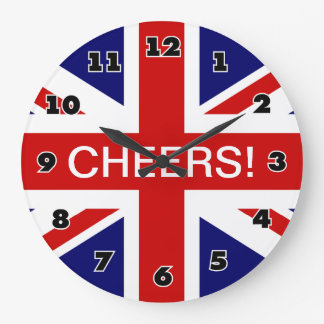 Big wall clock with british flag / union Jack
