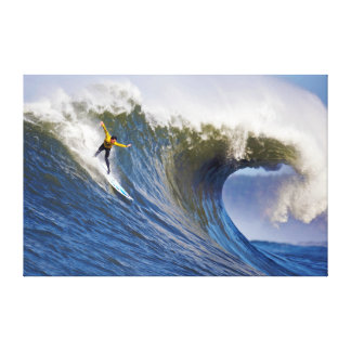 Big Wave at the Mavericks Surfing Competition Canvas Print