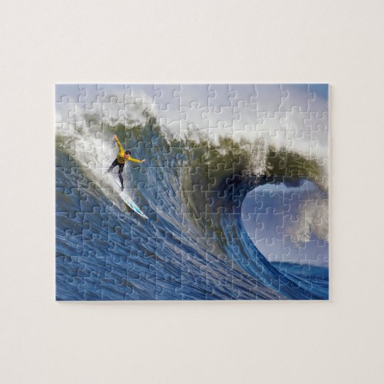Big Wave at the Mavericks Surfing Competition Jigsaw Puzzle