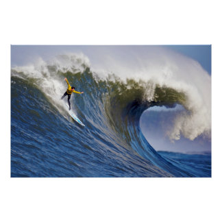 Big Wave at the Mavericks Surfing Competition Poster