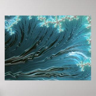 Big Wave Fine Fractal Art Poster