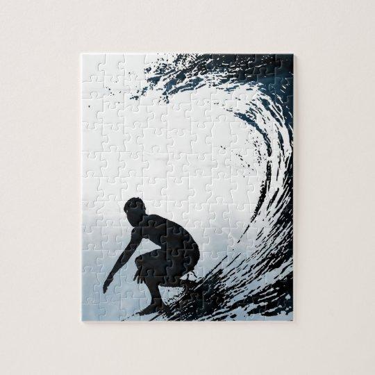Big Wave Surfer Jigsaw Puzzle