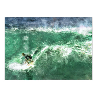 Big Wave Surfing Card