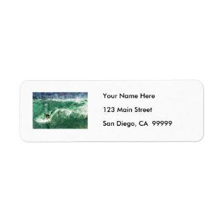 Big Wave Surfing Label