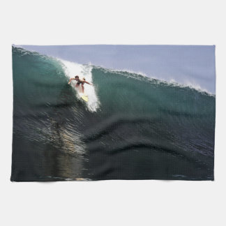 Big wave surfing tropical paradise surf hand towel