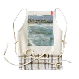 Big waves at bondi beach zazzle HEART apron