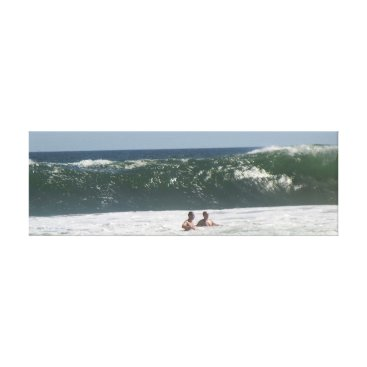 Art Themed Big Waves Canvas Print