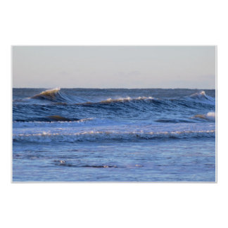 Big Waves Photo Poster