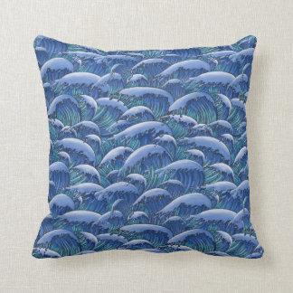 Big Waves Throw Pillow
