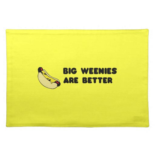 Big Weenie placemats Zazzle : bigweenieplacemats re75600986b144774bdf7a7936f1d65162cfku8byvr512 from www.zazzle.com size 512 x 512 jpeg 25kB