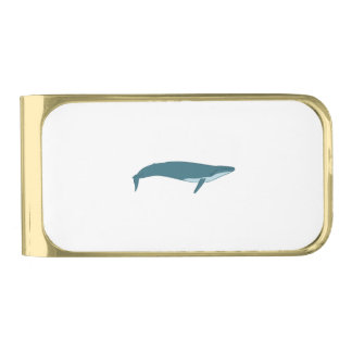 Big whale gold finish money clip