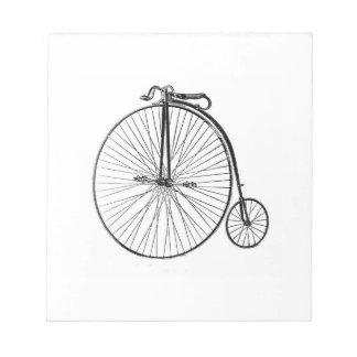 Big Wheel Bicycle Notepad