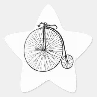 Big Wheel Bicycle Star Sticker