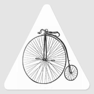 Big Wheel Bicycle Triangle Sticker