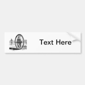 Big Wheel Cycle - Vintage Unicycle Bicycle Car Bumper Sticker
