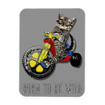 Big Wheel Kitty 3x4 Magnet