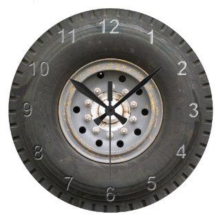 Big Wheel Large Clock