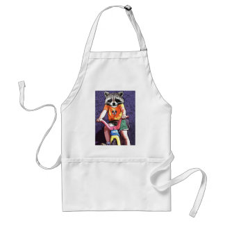 Big Wheel Raccoon Adult Apron