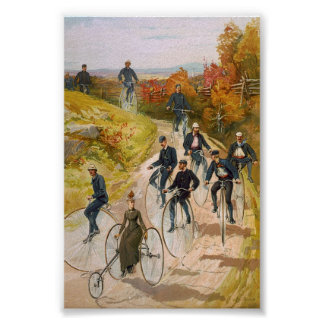 Big Wheels  1897 Color Print