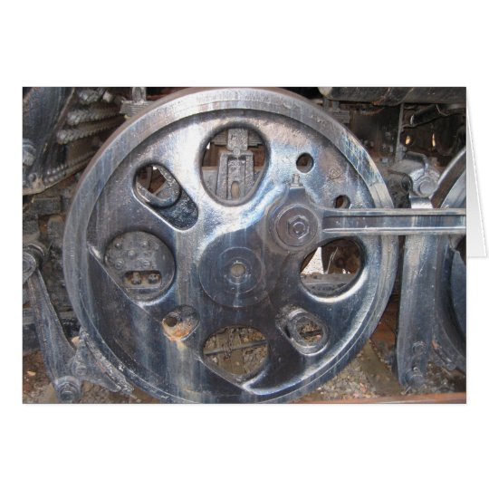 Big Wheels Keep on Turnin' Railroad Train Wheel Card