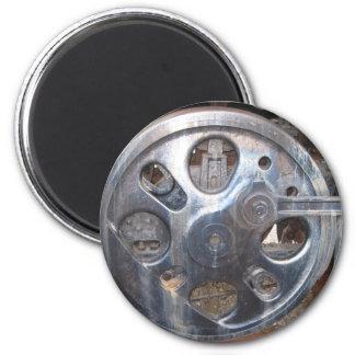 Big Wheels Keep on Turnin' Train Railroad Engine 2 Inch Round Magnet