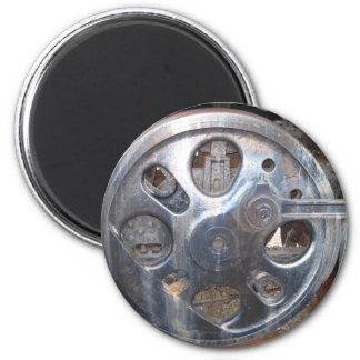 Big Wheels Keep on Turnin' Train Railroad Engine Magnet